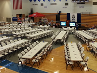 Tables and Chairs for School Banquets